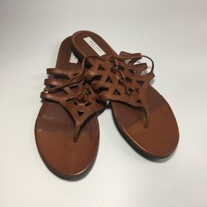 Cole Haan Claudia Flat Leather Sandals
